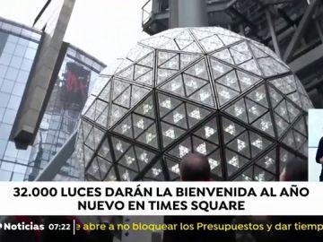 Nueva York se prepara para la gran fiesta de Nochevieja en Times Square