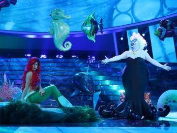 Mimi y Brays Efe recrean un maravilloso mundo bajo el mar como Ariel y Úrsula