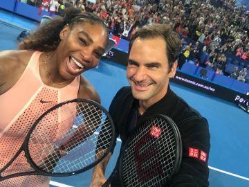 Serena Williams y Roger Federer, juntos en la Copa Hopman