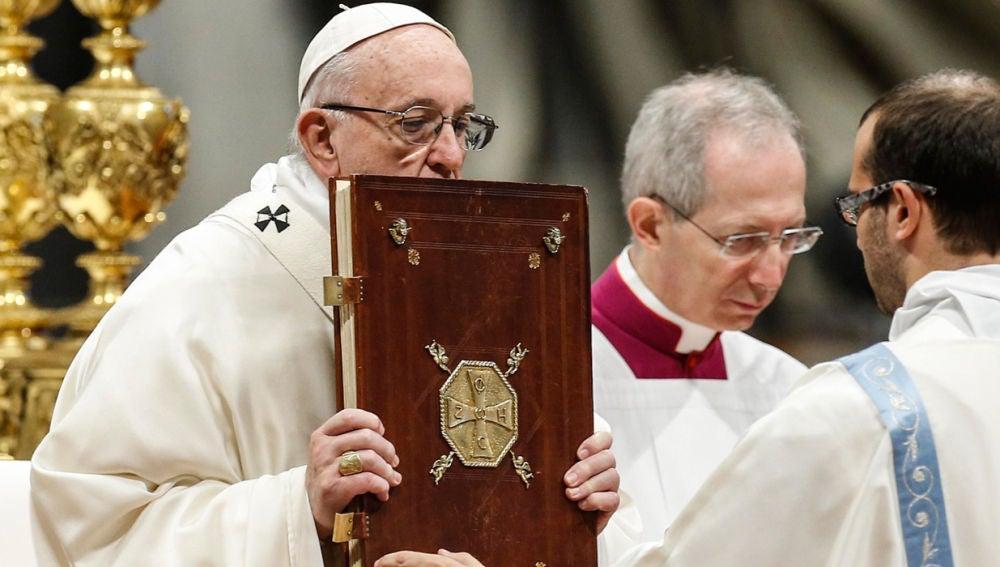 Papa Francisco durante la misa de Año Nuevo