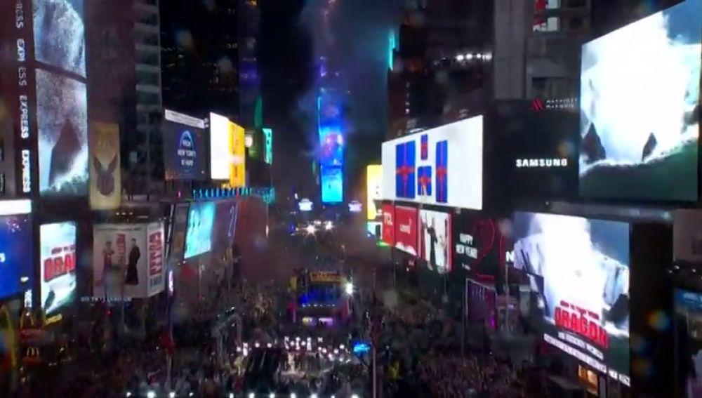 vídeo año nuevo nueva york