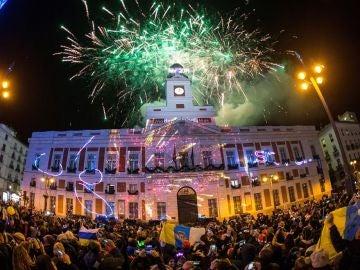Puerta del Sol de Madrid dando la bienvenida a 2019