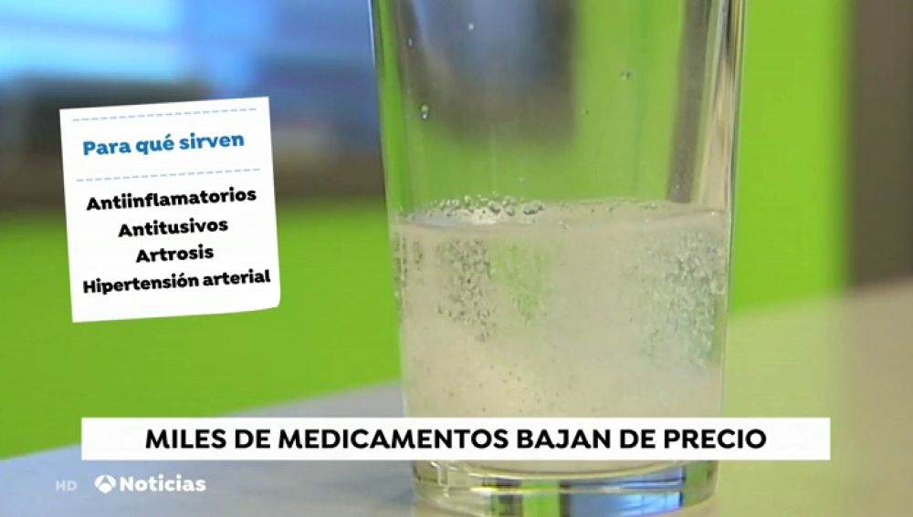 Miles de medicamentos bajan sus precios a partir de hoy