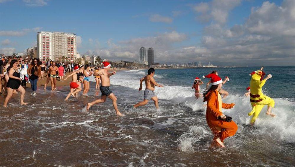 La barcelonesa playa de Sant Sebastià