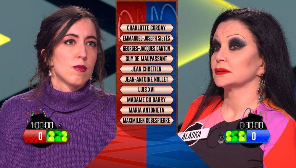 Alaska y Cristina, dos capitanas con un mismo objetivo: conseguir la ventaja táctica de '¡Boom!'