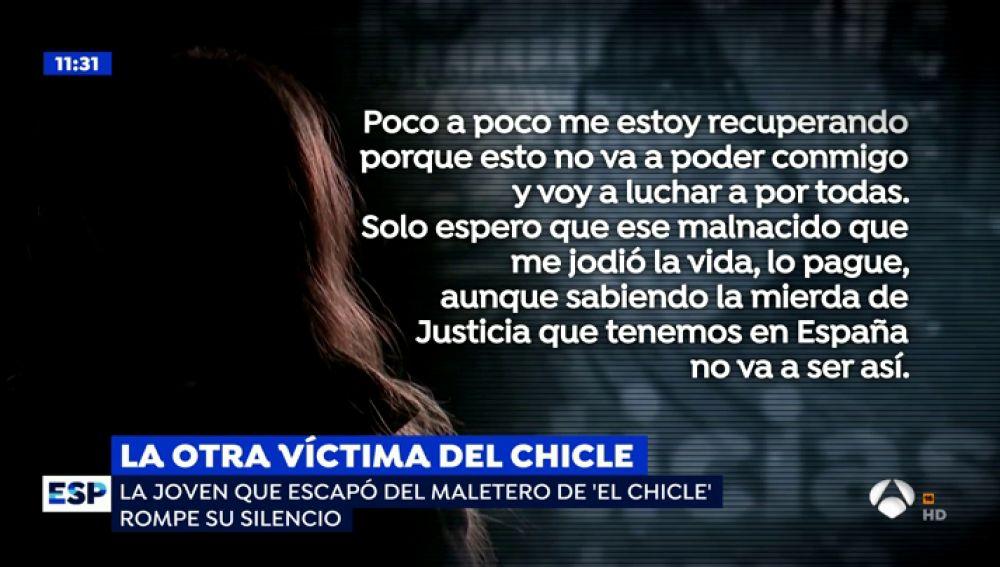 Victima de 'El Chicle'