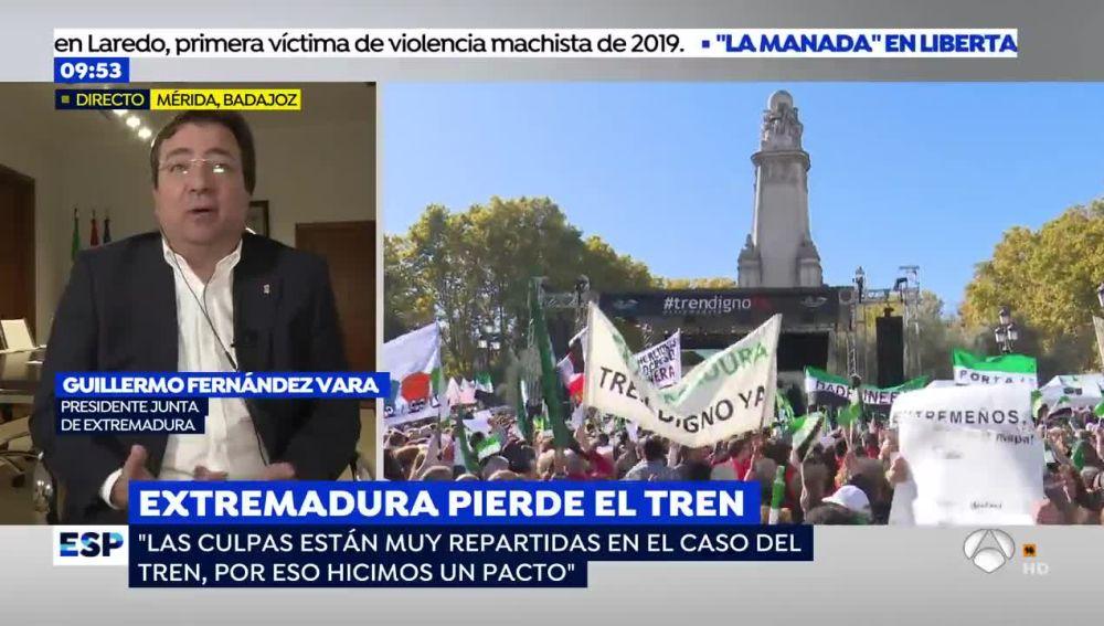 """Fernández Vara: """"No me sirven las disculpas de Renfe"""""""