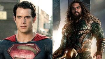 Henry Cavill como Superman y Jason Momoa como Aquaman