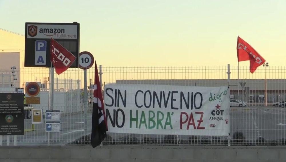 Nueva jornada de paro de los trabajadores de Amazon en plena campaña de Reyes