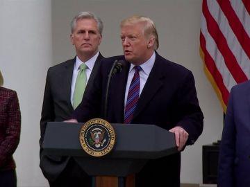 Trump está dispuesto a mantener el cierre de Gobierno hasta que los demócratas accedan a financiar el muro en la frontera con México