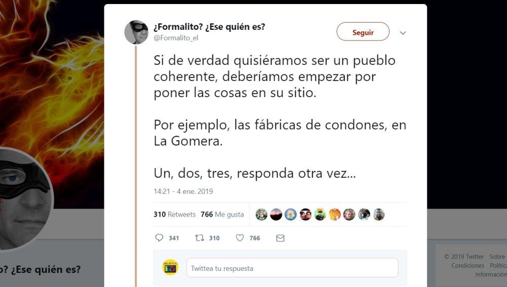 Hilo de twitter de Formalito
