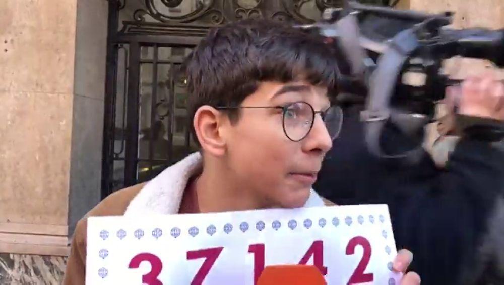 Cosmin, el ganador del primer premio con sólo 15 años