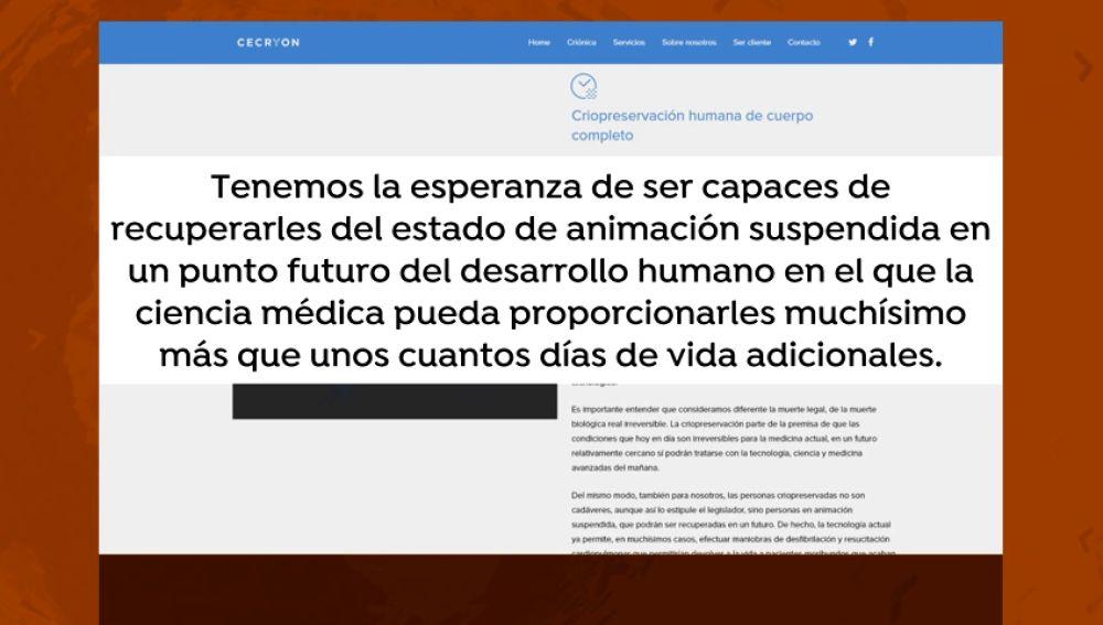 """Llega a Valencia una empresa que promete preservar cadáveres en frío """"hasta que la tecnología permita devolverlos a la vida"""""""