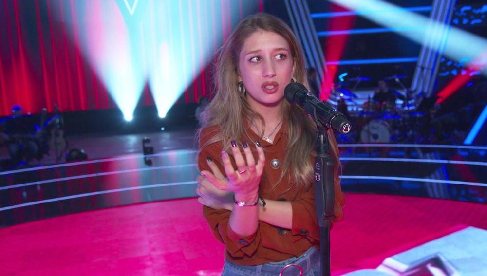 Los nervios sumergen a Palomy en un mar de dudas en el ensayo de las 'Audiciones a ciegas' de 'La Voz'