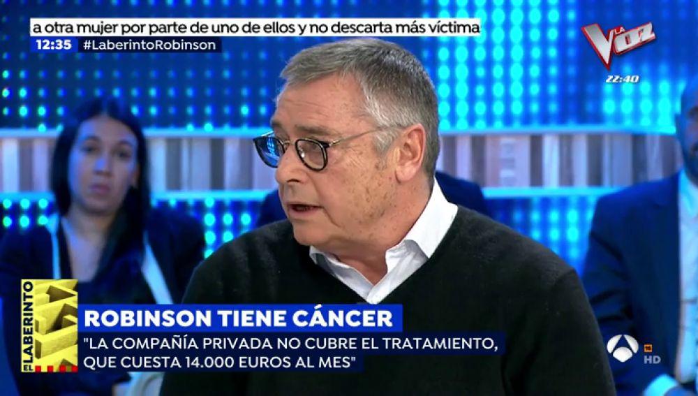 "Michael Robinson: ""Me dijeron que hay un 37% de posibilidades de curarme"""