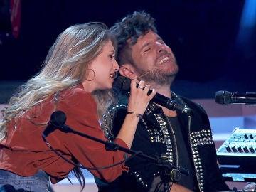 Palomy y Pablo López interpretan 'Ángel caído' al piano en 'La Voz'