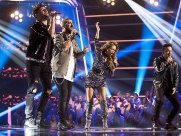 VÍDEO: Paulina Rubio, Antonio Orozco, Luis Fonsi y Pablo López arrancan 'La Voz' cantando 'Otra Vez'