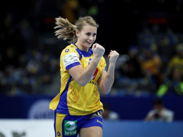 Isabelle Gullden, durante un partido