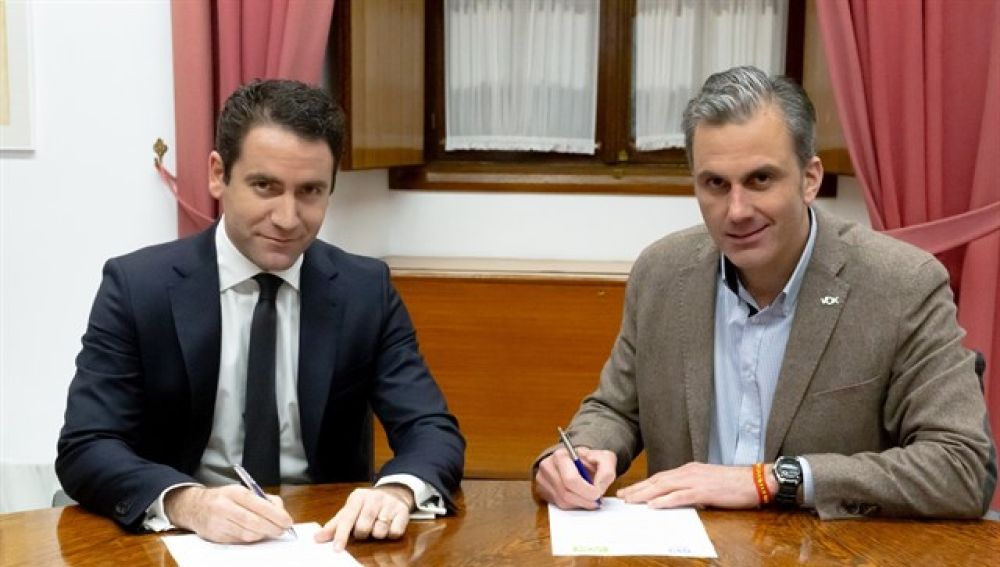 Teodoro García Egea y Javier Ortega Smith en una imagen de archivo