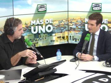 """Pablo Casado: """"Lo que Vox está diciendo en Andalucía está dentro de la Constitución"""""""