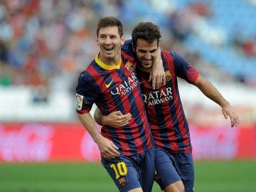 Messi y Cesc en el FC Barcelona