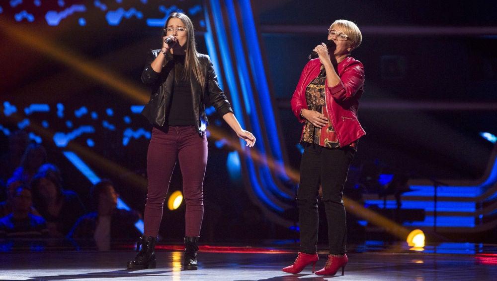 Video actuación Carmen Bautista y Laura Nieves audiciones a ciegas