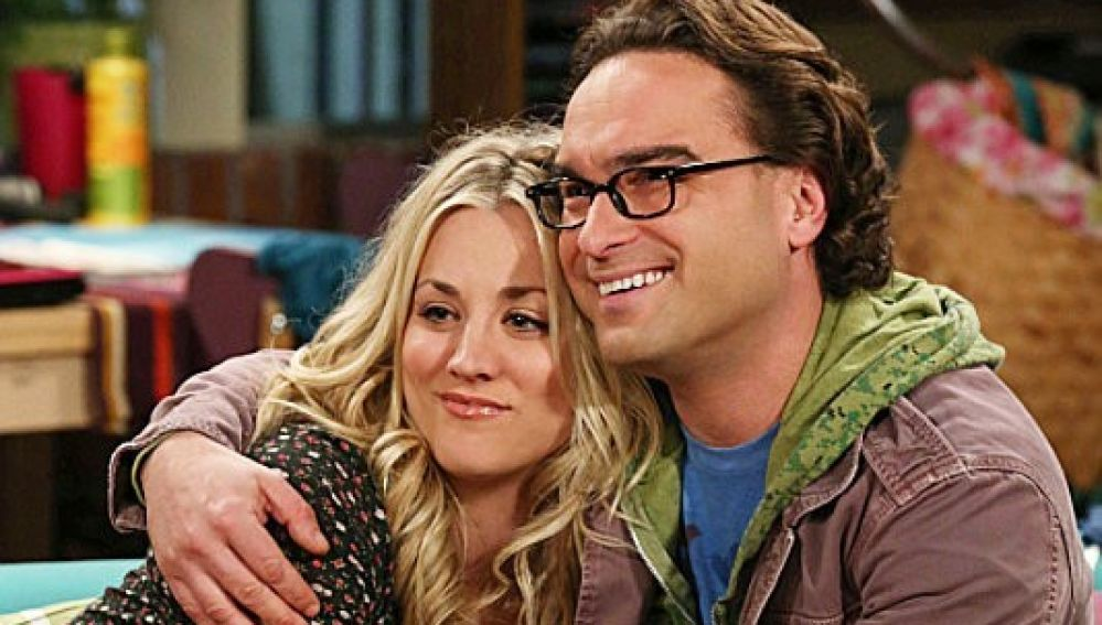 Penny y Leonard en 'The Big Bang Theory'