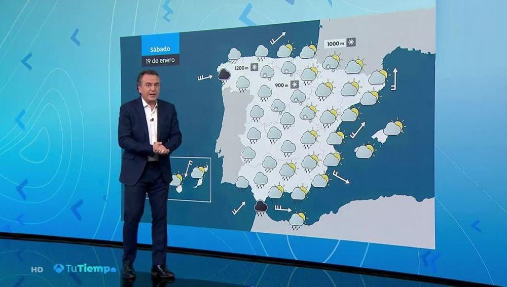Fin de semana invernal: Lluvia y nieve en casi toda España