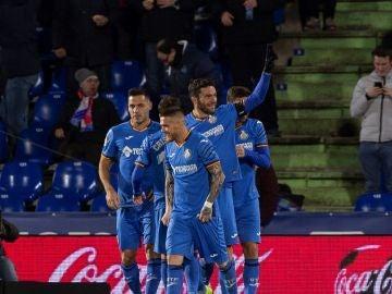 Jorge Molina celebra uno de sus goles con el Getafe
