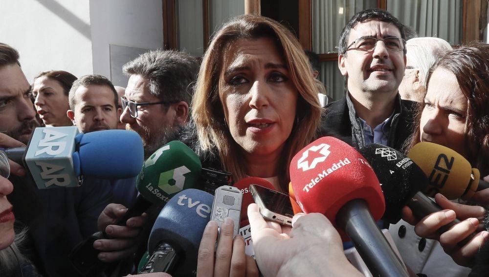 Susana Díaz, en la toma de posesión de Juanma Moreno