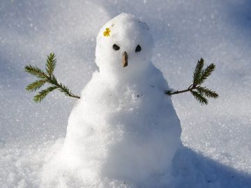 Muñeco de nievo (Imagen de archivo)