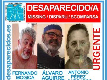 Los tripulantes de un velero desaparecido