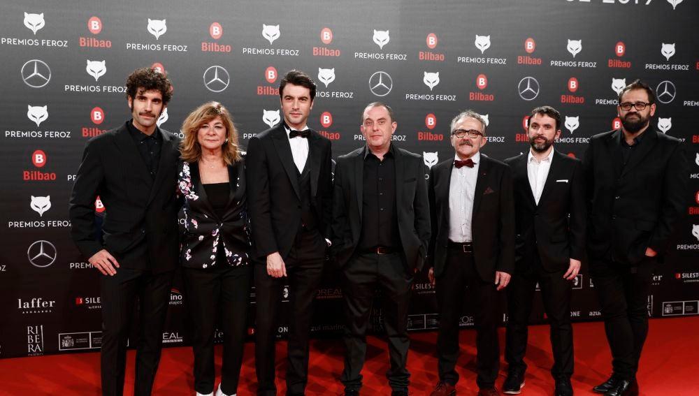 Actores de 'Fariña' en los Premios Feroz 2019