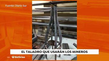 Los mineros usarán un taladro de cuatro brocas para acceder a Julen