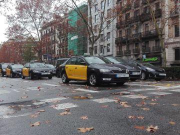 Huelga indefinida de taxis en Barcelona