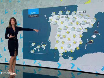 El lunes bajan las temperaturas en la península, sobre todo las mínimas