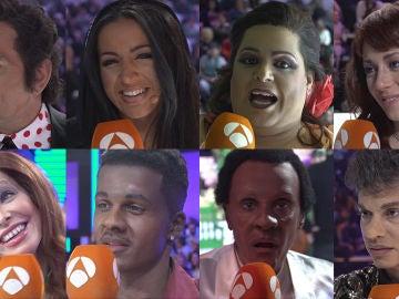 Los concursantes, aún emocionados, reaccionan ante sus imitaciones de la duodécima gala de 'Tu cara me suena'