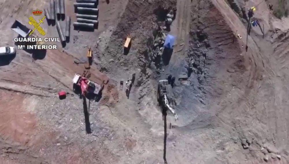 Las mejores imágenes aéreas del rescate de Julen