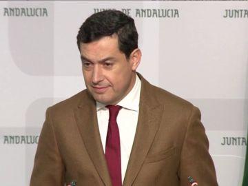 """Juanma Moreno: """"no he recibido ningún tipo de presión para configurar el gobierno"""""""