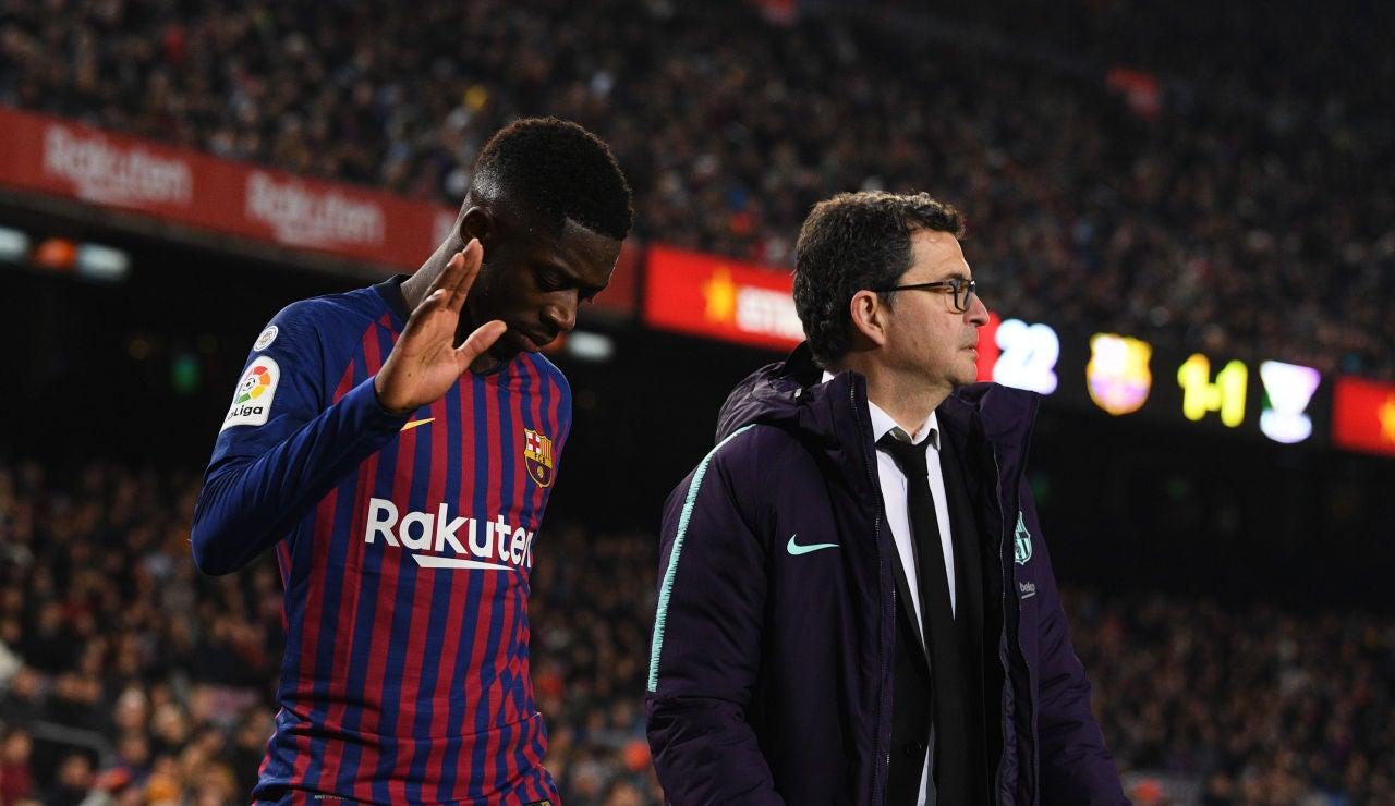 Dembelé se retira lesionado