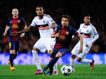 Boateng, durante un partido contra el Barcelona en 2013