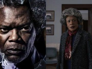 Samuel L. Jackson como Glass y su madre en la película