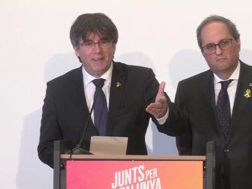 """Puigdemont: """"Si el Parlament de Cataluña me enviste, yo seré presidente de la Generalitat a todos los efectos"""""""