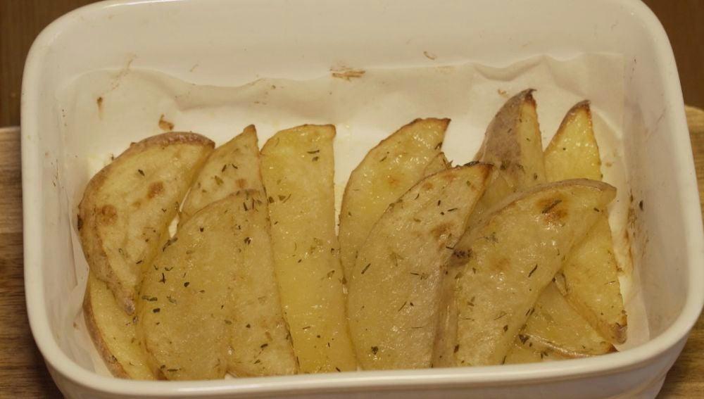 Unas ricas patatas al horno.