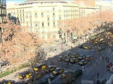 Así esta la Gran Vía en Barcelona