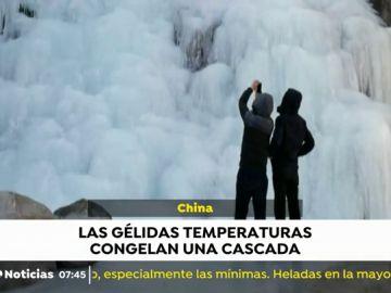 Cascada hielo China