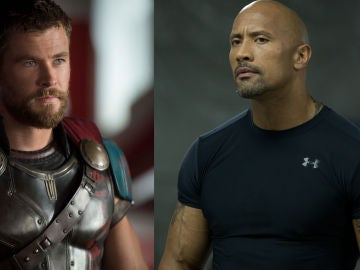 Chris Hemsworth y Dwayne Johnson