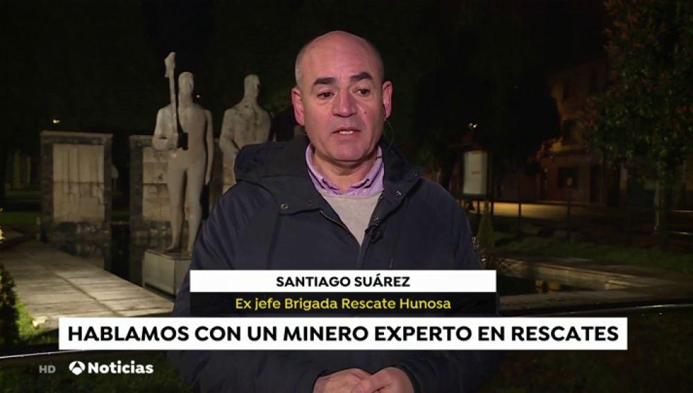 Santiago Suárez, que fue jefe de la Brigada de Rescate de Hunosa en Pola de Laviana, en Asturias