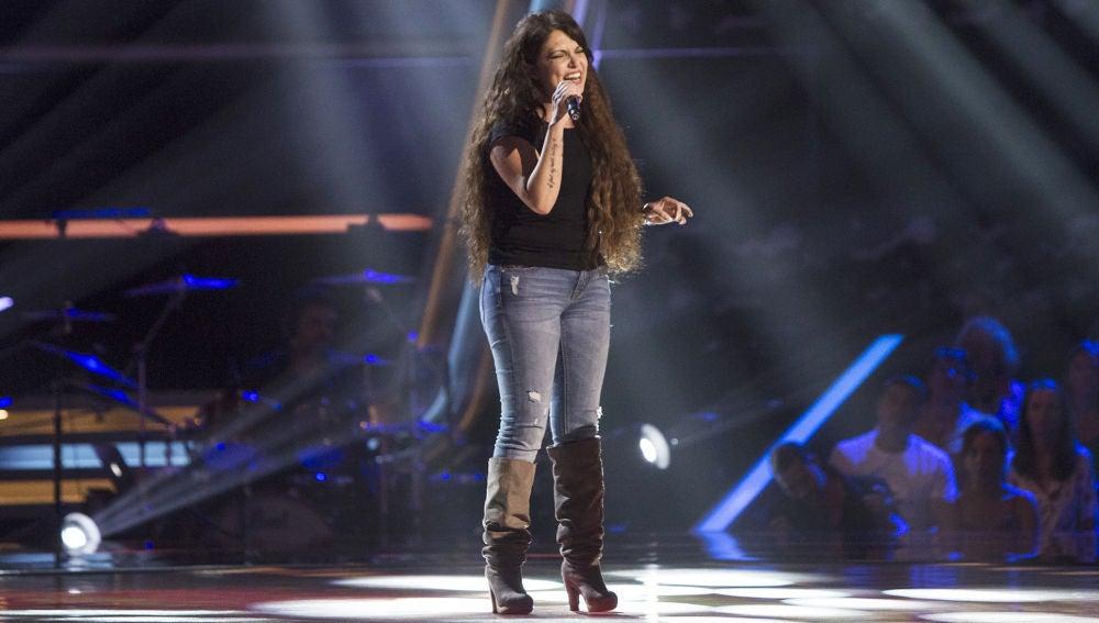Vídeo actuación de Lorena García en las audiciones a ciegas