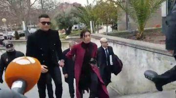 Cristiano Ronaldo llega a la Audiencia Provincial de Madrid para ratificar su pacto con Hacienda